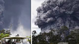 Hawaii volcano ERUPTION Mount Kilauea explosion so huge it can be SEEN from SPACE