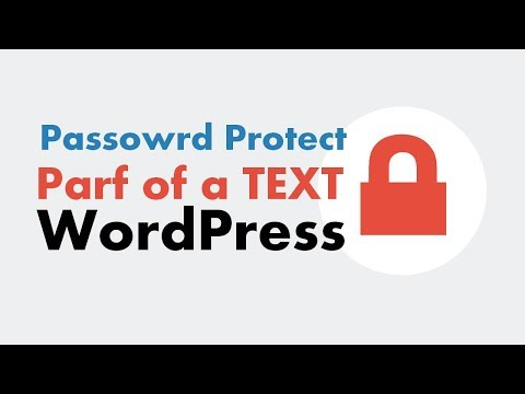 How To Password Protect A Specific Content Section In WordPress