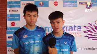 Justin Hoh & Fazriq Razif pleased with giant-killing exploits l Post-match comments l #CAMIJO2019