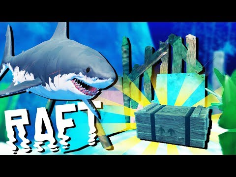 Secret Deep Water Treasure! - SHARK ATTACKS and Raft Building - Raft Gameplay