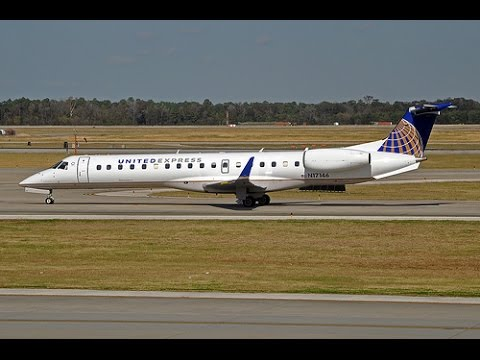 Onboard Taxi Take Off United Embraer Rj 135 140 145 Jet Youtube