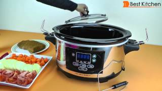 Hamilton Beach 6 Quart Oval Programmable Slow Cooker Review and Spicy Stew Recipe