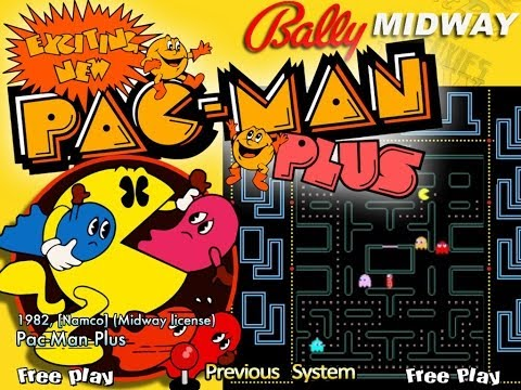 Pac-Man Plus (Arcade) - Game Play