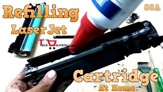 How to refill hp laserjet 88a 1108 1020 toner cartridge 36A CE278 78A CE285A 85A