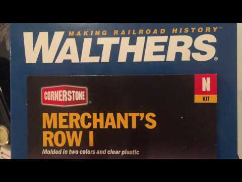 Update - N Scale Walthers Merchant Row 1