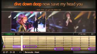Bandfuse: Rock Legends - PS3 -  Barracuda by Heart - Guitar - 100% - Easy Difficulty