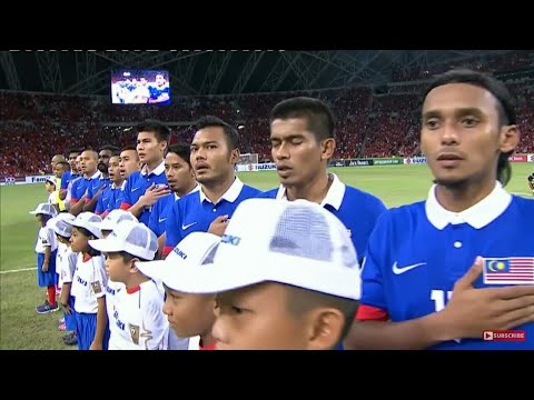 Singapore Vs Malaysia National Anthem In AFF Suzuki Cup 2014 In Singapore National Stadium