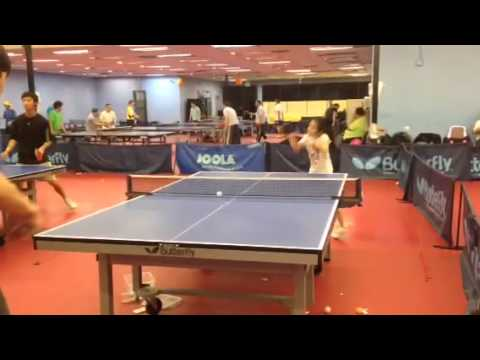 9 years old table tennis training