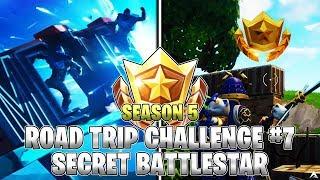 SECRET BATTLESTAR LOCATION! Week 7 Road Trip Challenges (Fortnite Season 5)