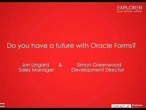 Do you have a future with Oracle Forms?   full