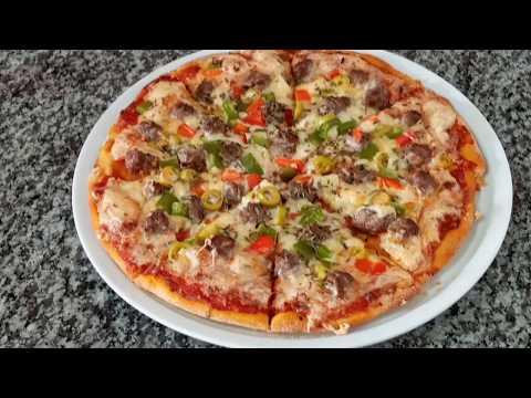 بيتزا بالكفتة بحال ديال المطاعم واحسن باقل تكلفة رائعة 👌😋pizza Au Viande Hachée
