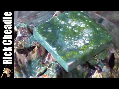 Acrylic Painting: Puddle Pour/ Air Duster/ Spin
