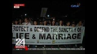 24 Oras: Ilang kabataan, senior citizen at mga taong simbahan, nagkaisa kontra EJK at charter change
