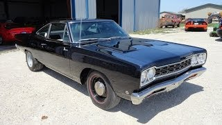 1968 Plymouth Road Runner 426 Hemi in Black paint - My Car Story with Lou Costabile