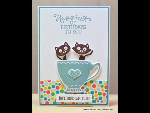 Two Cats in a Cup - JanB UK Stampin' Up! Demonstrator Independent