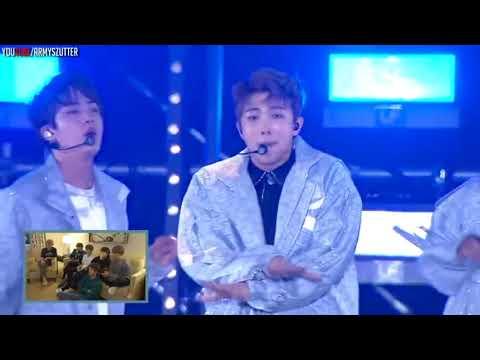 RUS SUB BTS Reacts To BTS Live Performances PART 1
