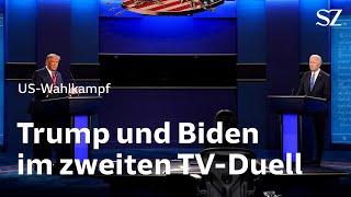 Trump und Biden im zweiten TV-Duell