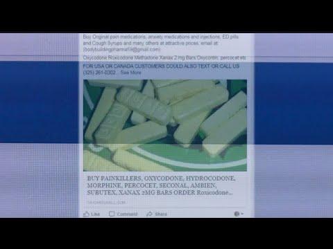 Prescription pills being sold online