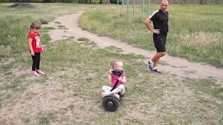 Гироскутер. Экстремальное обучение ребенка. Не повторять!