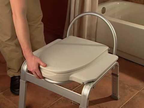 Moen DN7016 Premium Bedside Commode - YouTube