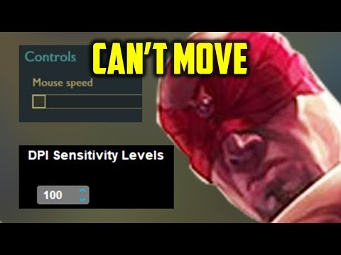"""LOWEST SENSITIVITY CHALLENGE """"actually impossible"""" in League of Legends (With Lee Sin)"""