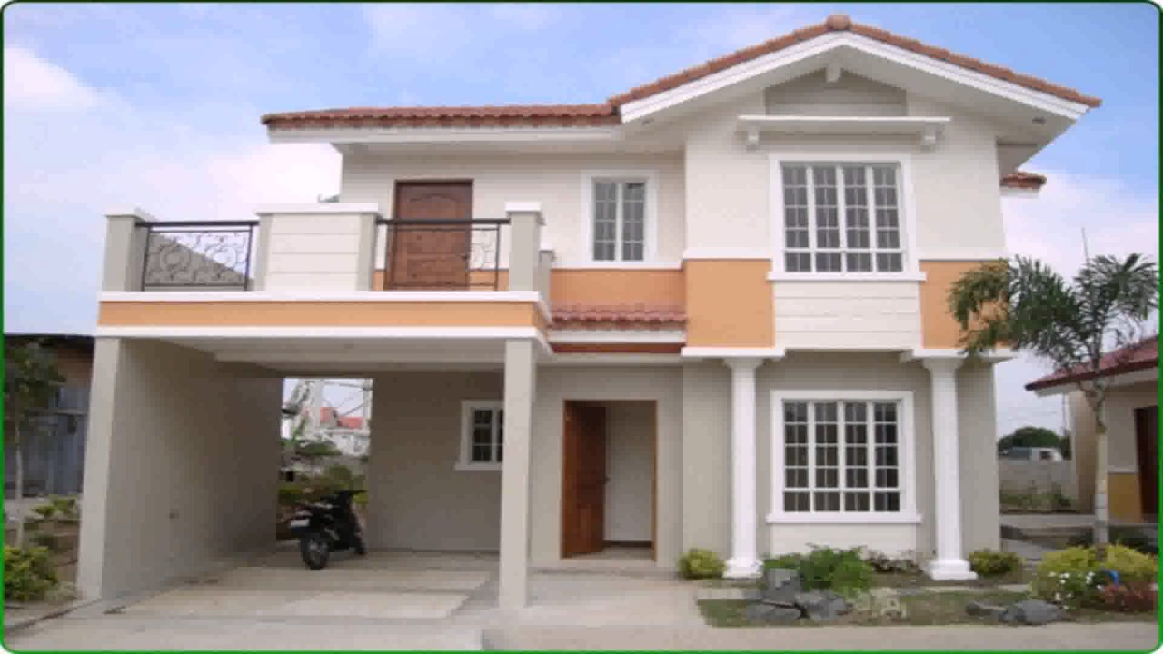 2 story house design with floor plan youtube for 2 storey apartment floor plans philippines
