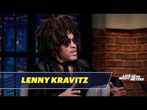 Lenny Kravitz Went to High School with Gina Gershon, Nicolas Cage and Slash