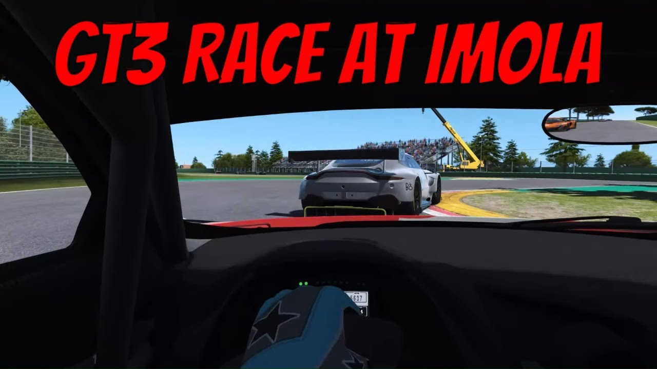 rFactor 2 GT3 Race Gameplay at Imola 2018 (Audi R8 LMS GT3)