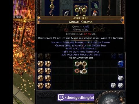 #1 RF Boots Revisited: Skull Trail Aspect of the Spider Triple White Socket Goliath Greaves | Demi