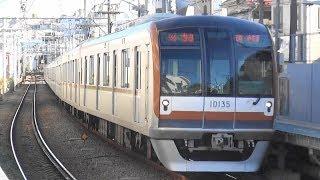 東急東横線白楽駅を通過 東京メトロ10000系10135Fの特急元町・中華街行き
