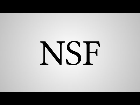 "What Does ""NSF"" Stand For?"