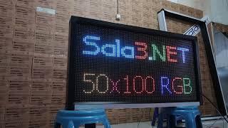 Mini VideoTron 50x100Cm - Running Text Full Color Outdoor Wifi + LAN