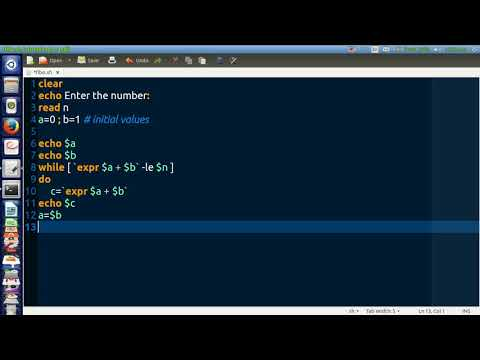Shell Script To Find The Fibonacci Series