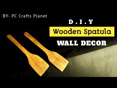Wooden spatula wall decor DIY| Wall hanging craft ideas| Wall decoration ideas| DIY wall decor