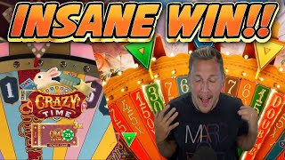 INSANE WIN!!! Crazy Tìme BIG WIN - HUGE WIN on Game show from Casinodaddys live stream