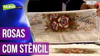 Rosas com stêncil – Luciano Menezes PT1