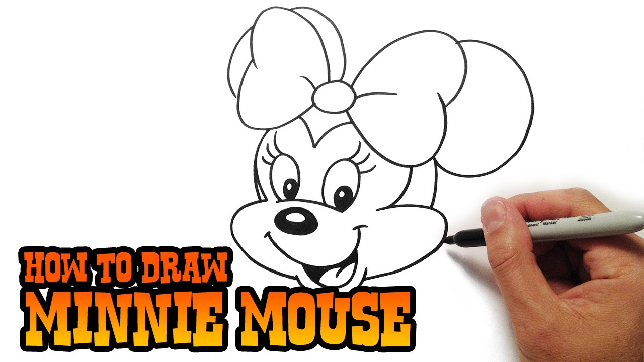 Uncategorized How To Draw Minnie Mouse Face how to draw minnie mouse youtube