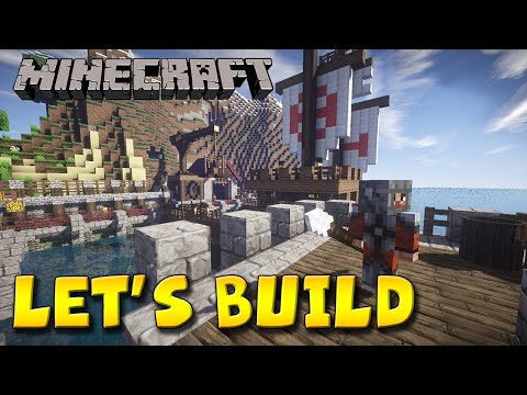 Minecraft Let's Build - Naval Sea Port 2
