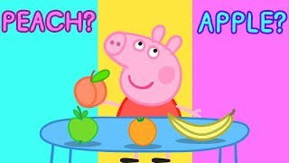 Peppa Pig - Learn Fruits with Peppa! 🍎Drawing for Kids - Learning with Peppa Pig thumbnail
