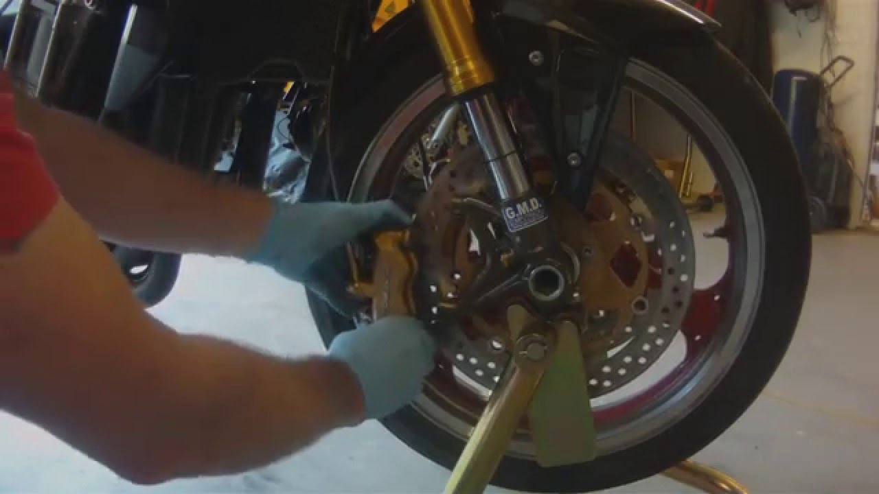 Kawasaki Z1000 Front Wheel Removal Replacement Youtube