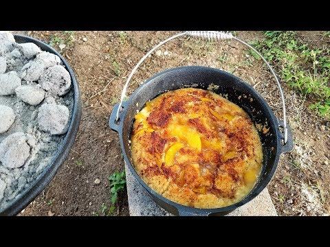 Let's Make Peach Cobbler In The Dutch Oven