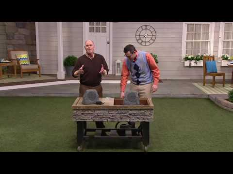 ION Wireless Outdoor Stone Speaker with Solar Power on QVC
