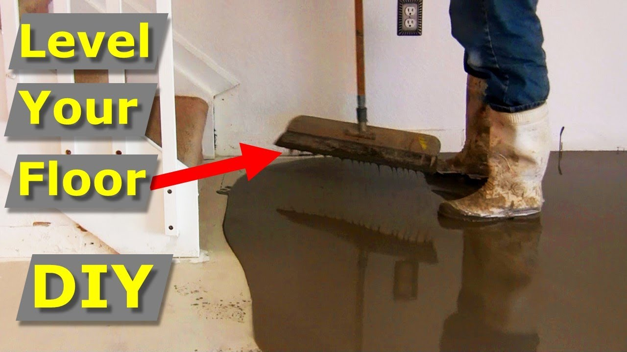 How To Self Level Concrete Floors Like Pros Self Leveler Youtube
