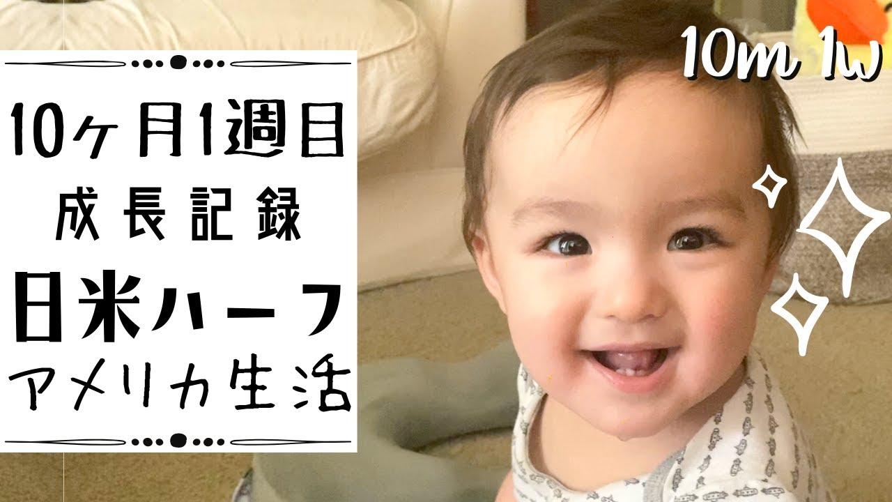 【10ヶ月1週目の成長記録】日米ハーフ•アメリカ生活•国際結婚|英語 日本語字幕 Baby 10th Month Week 1
