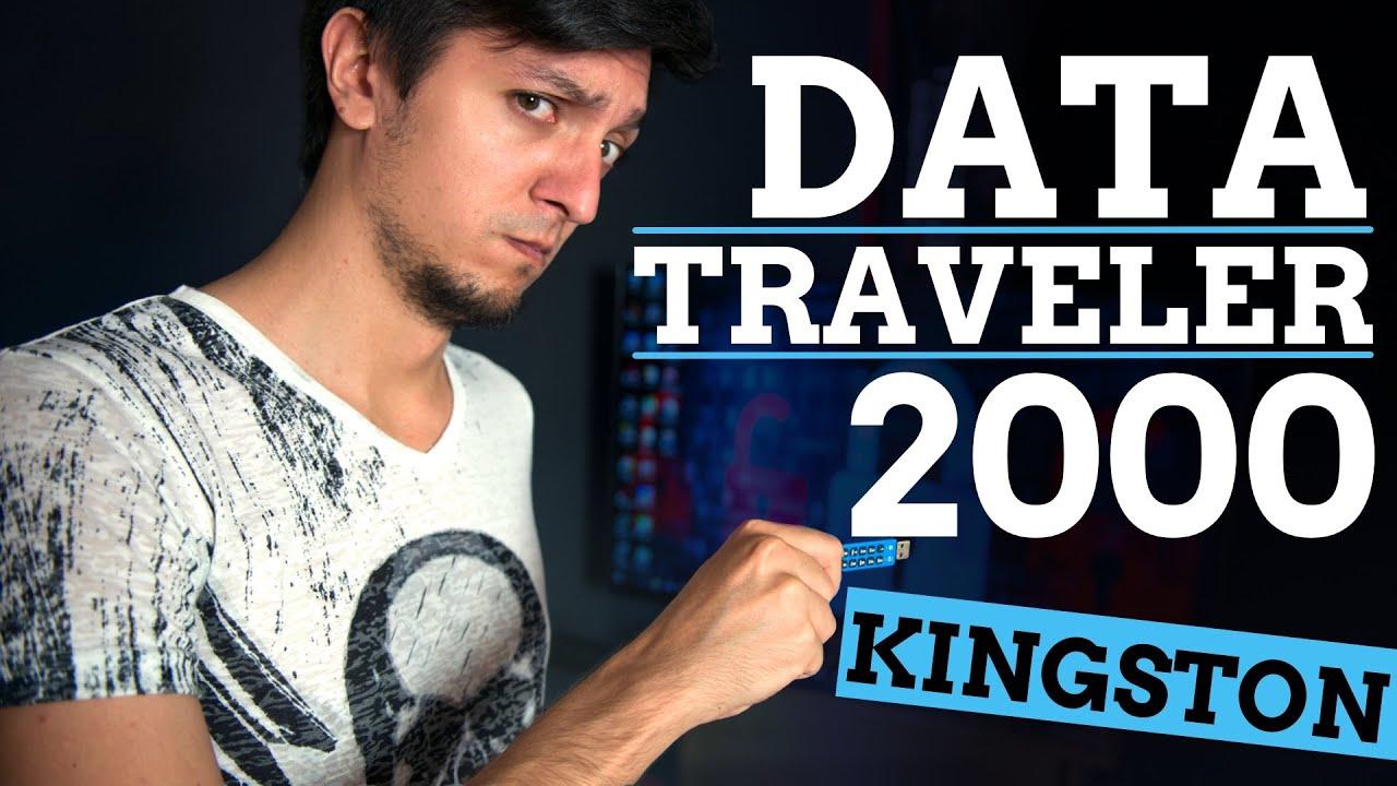 Kingston Data Traveler 2000: флэшка параноика - YouTube