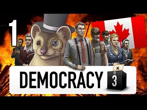 Democracy 3 Extremism - Part 1 - OH CANADA! - Let's Play Canada