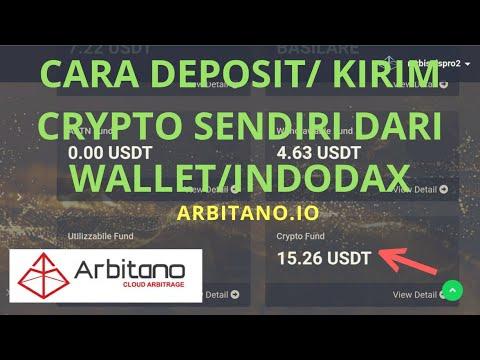 CARA DEPOSIT/ KIRIM CRYPTO SENDIRI DARI WALLET/INDODAX | ARBITANO.IO
