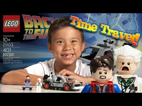 Lego BACK TO THE FUTURE DELOREAN - Epic TIME TRAVEL!  Cuusoo #004 Set 21103 time-lapse
