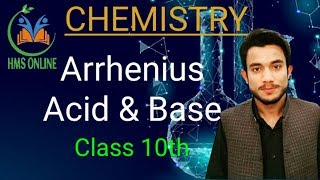 Arrhenius Acid and Base Concept- Class 10th  HMS Online