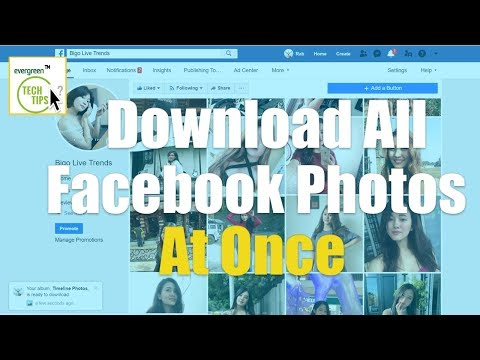Download All Photos/Videos From Facebook Friends/Page Photo Albums In One Click 2019
